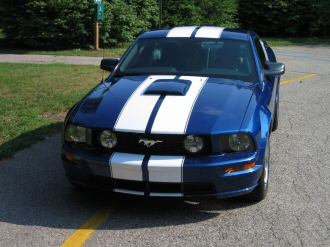mustang with tinted glass